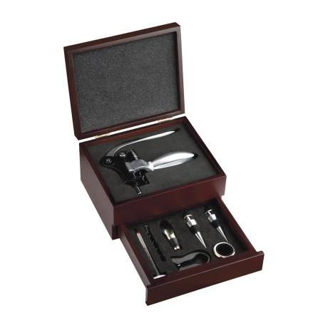 coffret tire bouchon levier et 8 accessoires avec tiroir coulissant. Black Bedroom Furniture Sets. Home Design Ideas