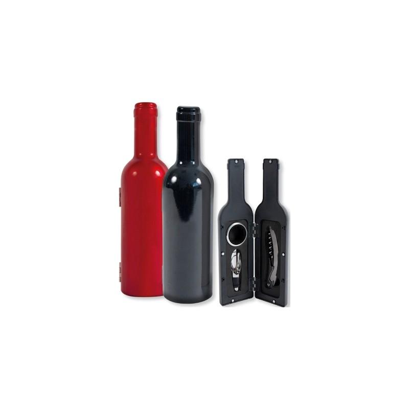 coffret en forme de bouteille laqu e avec 3 accessoires. Black Bedroom Furniture Sets. Home Design Ideas