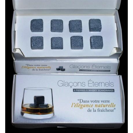 Coffret 8 pierres à whisky scandinaves