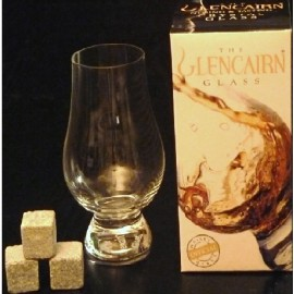 Verre à whisky Glencairn + 3 pierres ollaires