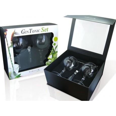 coffret 4 accessoires pour gin tonic. Black Bedroom Furniture Sets. Home Design Ideas